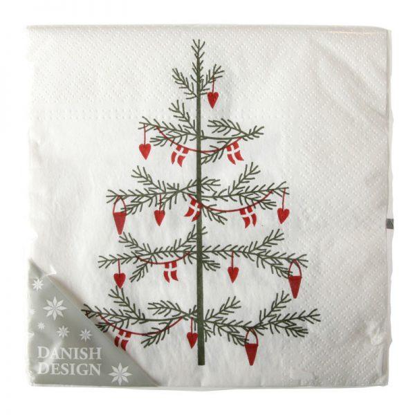 Juleservietter M/klassisk Juletræ Og Pynt