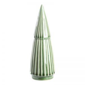 Juletræ I Porcelæn H21,7 Cm Grøn