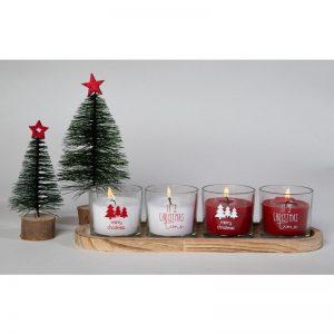 Juletræ M/rød Stjerne 25x12 Cm