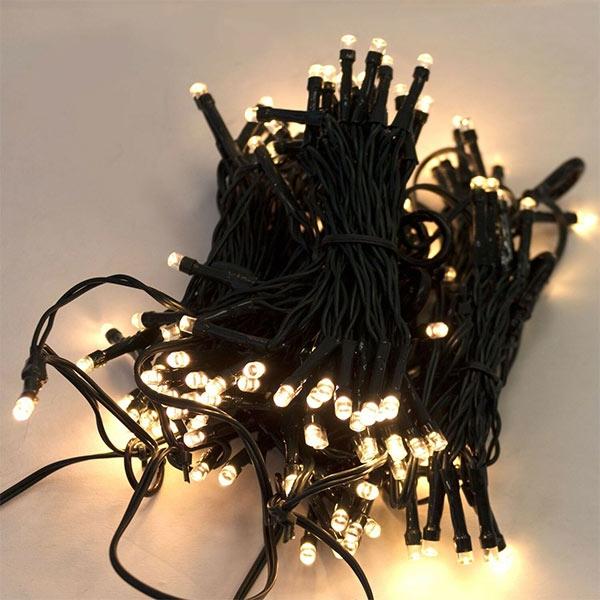 Lyskæde med 223 LED lys - til juletræ