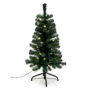 Nordic Winter juletræ med lys - H 90 cm