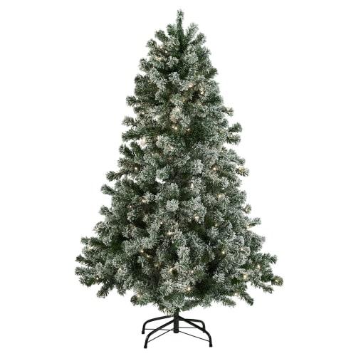 Nordic Winter kunstigt juletræ med lys og sne - 150 cm