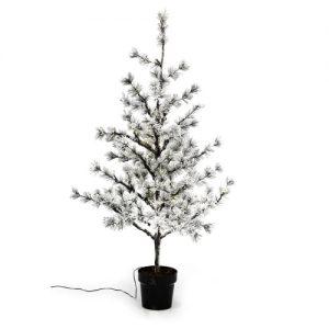 Nordic Winter lærketræ med lys og sne - H 120 cm