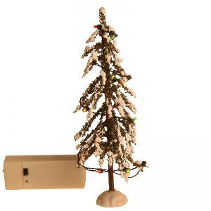 Juletræ Med Multicolour Led-lys 19,5 Cm.