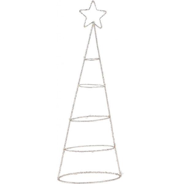 Juletræ i metalwire med 20 LED