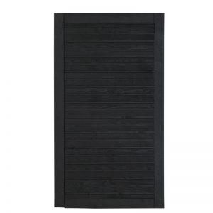 Plus Plank Enkeltlåge Sort 100x163 Cm Vendbar