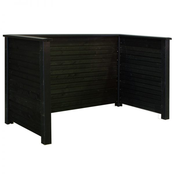 Plus Plank Profil Renovationsskjul 192x108x104 Cm Trykimprægneret/sort