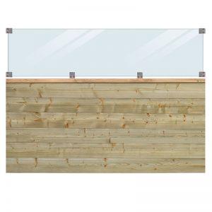 Plus Plank Profilhegn Inkl. Glas 174x125 Cm Trykimprægneret