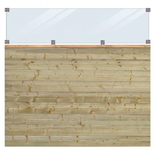 Plus Plank Profilhegn Inkl. Glas 174x163 Cm Trykimprægneret