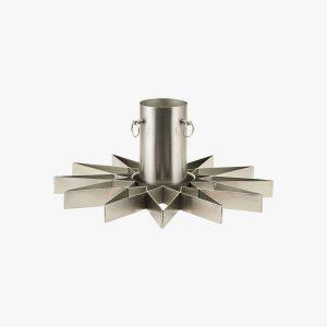Juletræsfod Star, sølvfinish