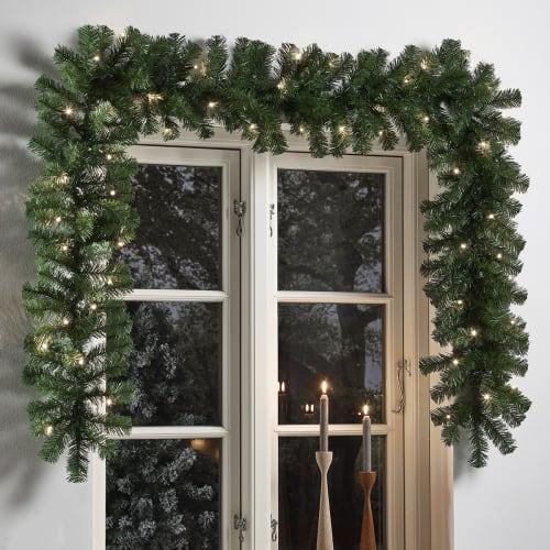 Nordic Winter kunstig granguirlande med lys
