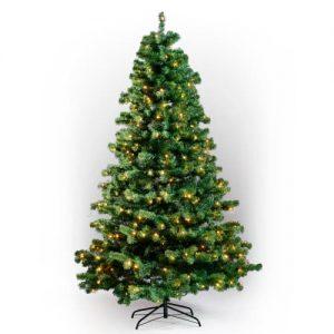 Nordic Winter kunstigt juletræ med lys - H 180 cm