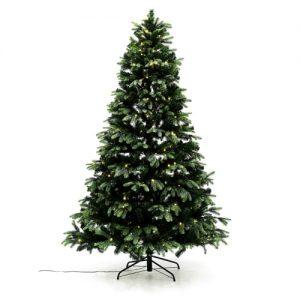 Nordic Winter kunstigt juletræ med lys - Mix - H 150 cm