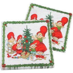 Julius juleservietter m/nissepar & juletræ